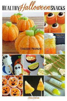 Pinning for later! Sick of so much sugar at Halloween! Love these healthy Halloween snack ideas that are still cute.