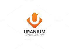 Uranium U Letter Logo by XpertgraphicD on @creativemarket
