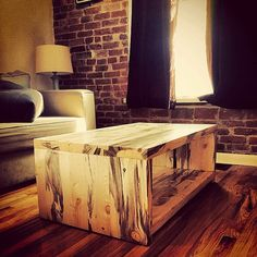Hey, I found this really awesome Etsy listing at https://www.etsy.com/listing/210844480/rustic-beetlekill-waterfall-coffee-table