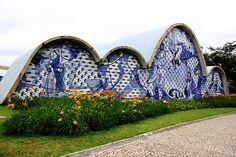 Igreja de São Francisco de Assis, decorazioni in ceramica di Portinari - Belo Horizonte