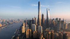 Finalizan las obras de la Shanghai Tower, un edificio de 632 metros de altura y sorprendente forma de espiral