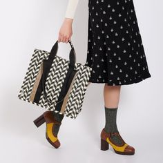 Browse our collection of designer accessories by Orla Kiely online now at the Kilkenny Shop. Orla Kiely Handbags, Shoulder Straps, Designer Handbags, Cotton Canvas, Showers, Midi Skirt, Rain, Essentials, Hardware