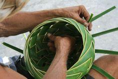 Palm basket weaving 2