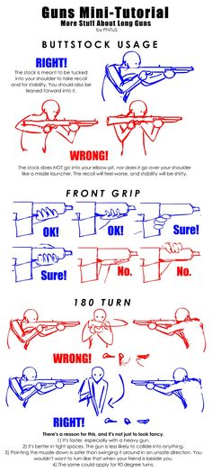 Guns Mini-Tutorial: More Long Gun Stuff by PhiTuS.deviantart.com on @DeviantArt
