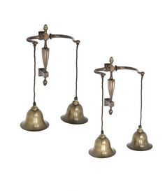 Pair of Late 19th Century Brass Wall Lights | Rose Uniacke