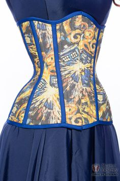 Doctor Who Van Gogh Exploding Tardis Long Line by CastleCorsetry