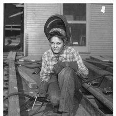 Rosie The Riveter Poster Black And White