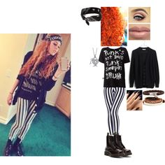 Mahogany LOX Inspired Outfit #1 by nikkie-fen on Polyvore featuring mode, R13, Madewell, Dr. Martens, John Hardy, BERRICLE and GUESS