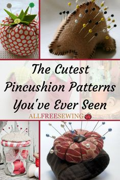 From insanely cute and quirky to simple and useful, all of these patterns are a true treasure. None of them combine a fun pattern with a surprisingly useful shape quite like the Pretty Pie DIY Pincushion does. Wool Applique Patterns, Sewing Patterns Free, Pincushion Patterns, Free Sewing, Hand Sewing, Free Pattern, Small Sewing Rooms, Sewing Spaces, Cushion Tutorial