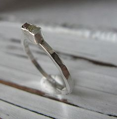 Rough Diamond Ring by HotRoxCustomJewelry on Etsy, $80.00