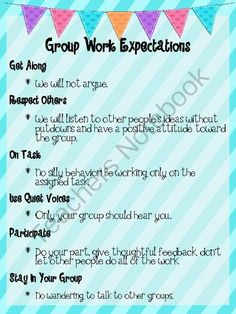 Group Work Expectations Poster from Having Fun In Middle School on TeachersNotebook.com (2 pages)  - This poster helps show students exactly what they should be doing during group work.