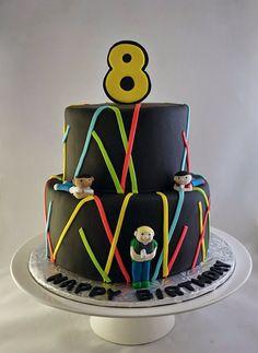 Laser Tag Birthday Cake