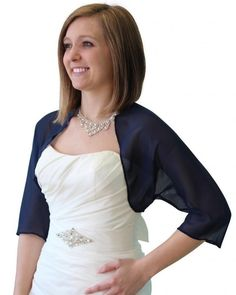 Bridal wrap, Navy Blue Chiffon Bolero, Sale Prom Bolero, Silk Feel Jacket, Wedding Stole, Shrug Bolero, Bridal Bolero, Chiffon Scarf 890-NBLUEThis Navy Blue chiffon Bolero Jacket is elegant and classic, in pencil edge, very soft, perfect match to your wedding gown or a bridemaid dress. This item is popular for Summer Occasions or Weddings.100% polyester, machine wash in cold waterWe have Your size: More sizes to fit more peopleSize: from Small to XXLPls check our TION DESIGN bolero...