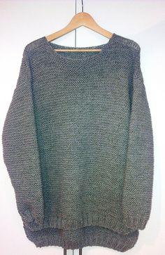 """Skappelgenseren"" pattern by Dorthe Skappel Knitting Patterns Free, Free Knitting, How To Start Knitting, Garter Stitch, Sweater Weather, Crochet Clothes, Knitting Projects, Knitwear, Hand Weaving"