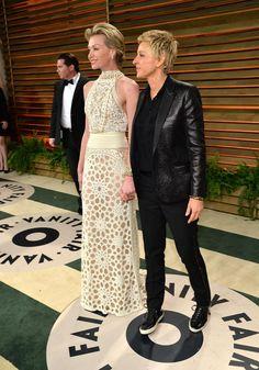 Vanity Fair Oscar Party 2014: Photos from the Red Carpet, Inside the S | Vanity Fair portia de rossi & ellen