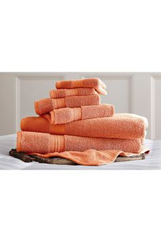 Amrapur | Luxury Spa Collection 6-Piece Towel Set - Coral | HauteLook