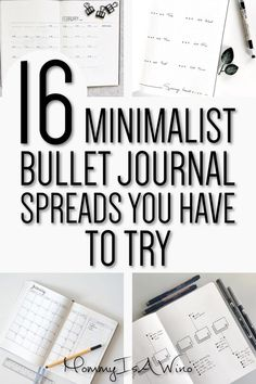 Minimalist Bullet Journal Spreads - Minimalist Bullet Journal Layouts - Monthly and Weekly Spreads - 16 Minimalist Bullet Journal Spreads You Have To Try #bujo #bujolove #bulletjournal #spreads #monthly #weekly #minimalist #bulletjournalspreads #bulletjournallayouts