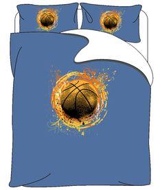 Basketball Splash Bedding in blue or Pink Background