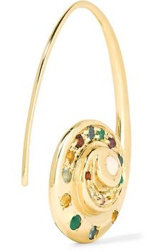 Venyx - Pharaonys 18-karat Gold Multi-stone Earrings - one size