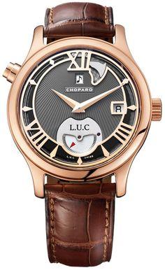 Chopard 18k Rose Gold LUC Mens Watch 161912-5002
