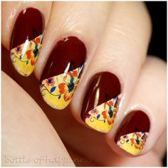 Colour Alike 9 Cabernet wine + water decals #nails #nailart