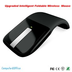 Free Shipping mouse 2.4Ghz flexional Foldable Wireless Computer Mouse Folding Arc Touch Mouse fold mouse