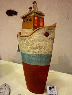 Lampada vascello. Cm 65x33x19 Antoni Batzu - Sardinia - Italy