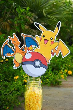 A personal favorite from my Etsy shop https://www.etsy.com/listing/480413291/pokemon-centerpieces-pokemon-go