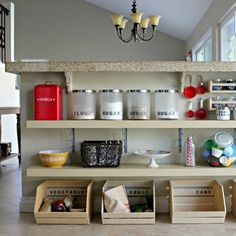 If I ever get the rabbit cage out of my dining room. Convert unused space under a breakfast bar into extra kitchen storage. Or toy storage.