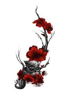 Beautiful owl tattoo design