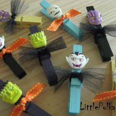 Halloween Clothespins-treat bag clips