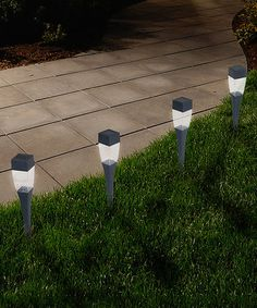 Another great find on #zulily! LED Solar Modern Pathway Light - Set of 24 #zulilyfinds