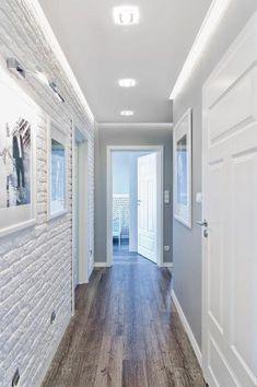 85 Scandinavian Interior Design Ideas - Home Decorations Trend 2019 Flur Design, Plafond Design, Style At Home, Hallway Decorating, Interior Decorating, White Brick Walls, Gray Walls, House Entrance, Ceiling Design