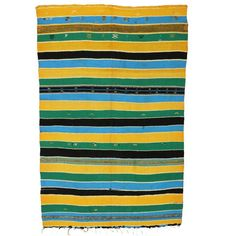Vintage Berber Moroccan Kilim with Stripes and Tribal Boho Chic Style - Image 1 of 5