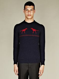 Jil Sander Men's Camel Blend T-Rex Knit