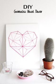 DIY Geometric String (he)art Click for more DIY Ideas
