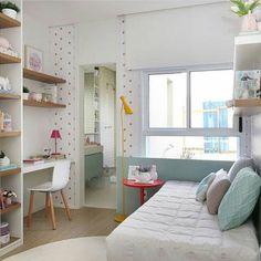 O quarto da menina por @fernandamarquesarquiteta