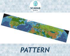 Loom Bead Pattern: Map of Earth Bracelet / Cuff by ScarabJewels