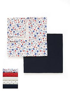 Multi 5 Pack Pure Cotton Nautical Themed Muslins