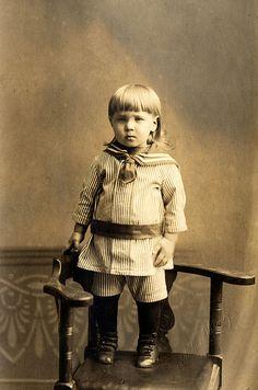 Swedish boy in sailor suit
