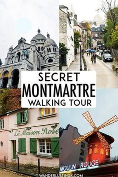 Planning to visit Montmartre in Paris? Your free self-guided walking tour of Montmartre's secret places and the major attractions in the arrondissement, including the best views of Sacre Coeur. Includes secret villages in Montmartre that you won't wan Paris Travel Guide, Europe Travel Tips, European Travel, Travel Destinations, Travel Hacks, Travel Deals, Holiday Destinations, Paris France, Spain