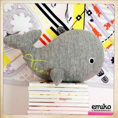 Personalized Whale for Theo Whale, Dinosaur Stuffed Animal, Toys, Animals, Stuffed Toys, Animales, Whales, Animaux, Toy