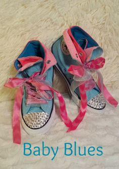82711c939 BABY BLUES by STARDUST SHOES. Youth size 12. Converse brand. Made with  genuine