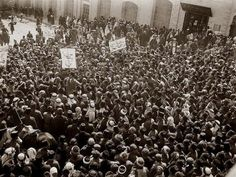Demonstration against Zionist colonization/British rule, 1920