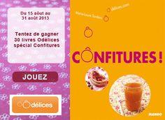 Jeu concours : gagnez 30 livres Odelices spécial Confitures - Ôdélices - #concours #confiture #odelices