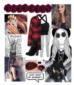 """""""Rocking the Flannel"""" by amelia-36 ❤ liked on Polyvore featuring 3x1, Charlotte Russe, RGB and Christian Louboutin"""