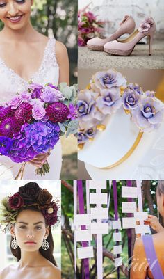 Häät-lehdessä 1/2015 runsasta kukkaa ja eleganttia purppuraa - Aiheet - Häät.fi Crown, Wedding, Fashion, Valentines Day Weddings, Moda, Corona, Fashion Styles, Weddings, Fashion Illustrations