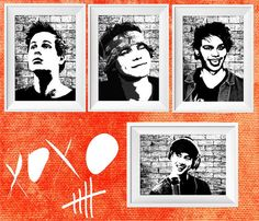 5 seconds of summer print wall decor poster - Luke Hemmings - Ashton Irwin - Michael Clifford - Calum Hood - 5 SOS poster print