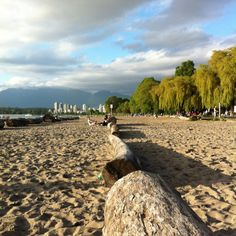 Kitsilano beach Vancouver BC. My son lives just 5 minutes walk from here! Paradise!