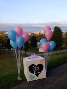 Our gender reveal box ) More : baby balloon in a box - Aboutintivar.Com